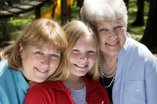 Three-generations-of-woman
